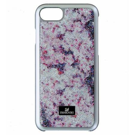 Swarovski Glass Jewel - Swarovski Glam Rock Case for Apple iPhone 8 & 7 - Silver/Purple and Clear Gems
