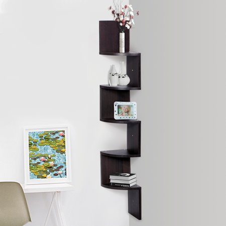 Finether wall corner mounted shelving bookcase storage for Decoration murale walmart