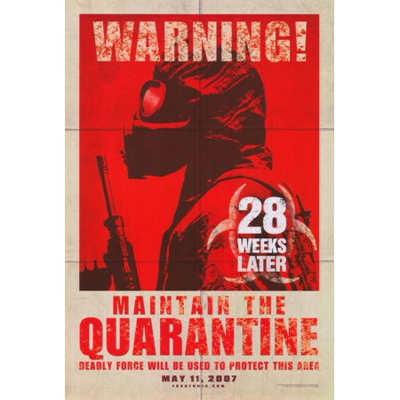 28 Weeks Later POSTER (27x40) (2007) (Style B) (Plan B Side Effects 2 Weeks Later)