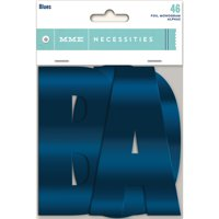 "Necessities Foiled Monogram Alphas 3"" 46/Pkg-Blues"