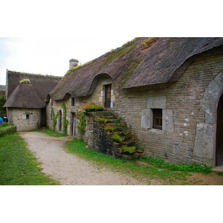 Canvas Print House Roof Cottage Countryside Stretched Canvas 10 x (Countryside Cottage)