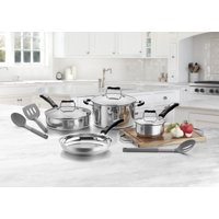 Deals on Cuisinart 10 Piece Stainless Steel Cookware Set