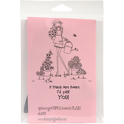 """Stamping Bella Cling Stamp 6.5""""X4.5""""-Uptown Girl Pippa Loves To Plant"""