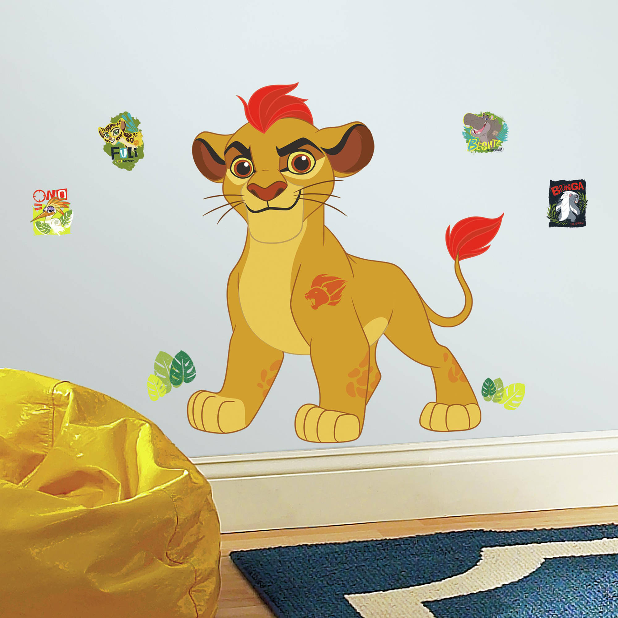 RoomMates Lion Guard Kion Peel and Stick Giant Wall Decals - Walmart.com