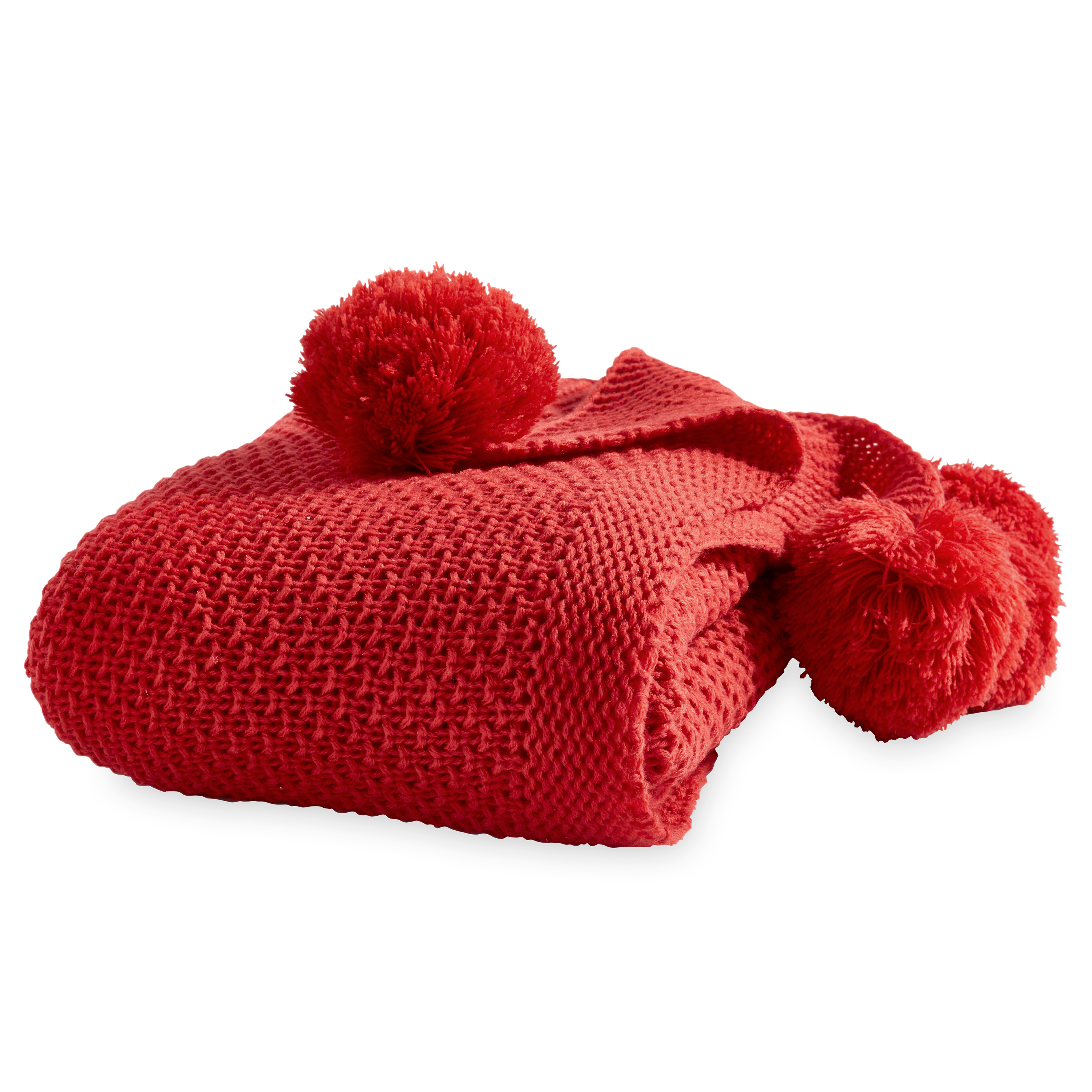 Better Homes and Gardens Knit Pom-Pom Throw Blanket