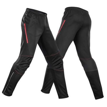 Lixada Men's Waterproof Cycling Pants Thermal Fleece Windproof Winter Bike Riding Running Sports Pants