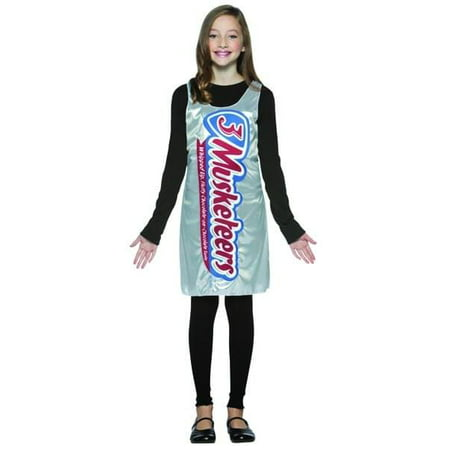 3 Musketeers Chocolate Candy Bar Wrapper Tank Dress Costume Teen Teen (Musketeer Costume)