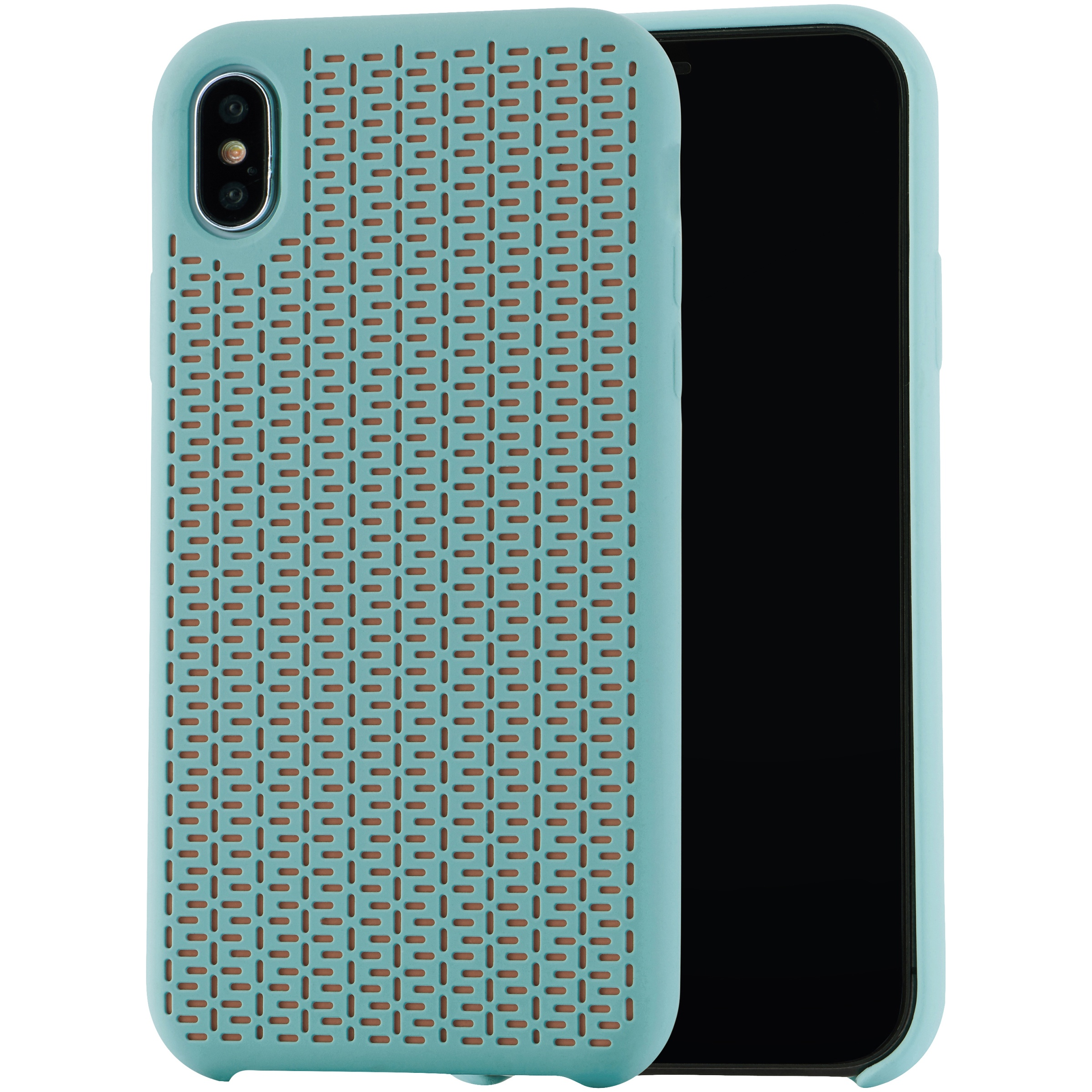 """Blackweb Soft Touch Silicone Case for iPhone with 6.5"""" Screen, Mint Green"""
