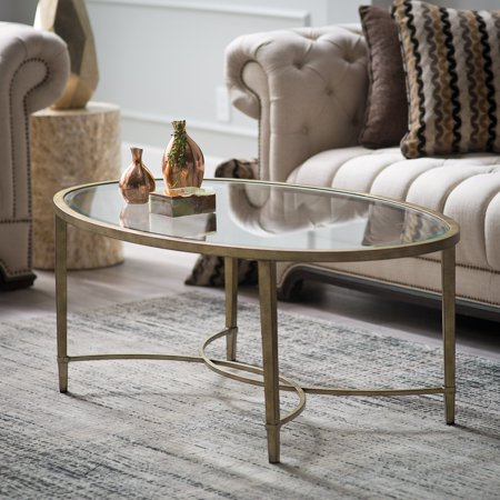 Magnussen Oval Table - Magnussen Copia Metal Oval Cocktail Table