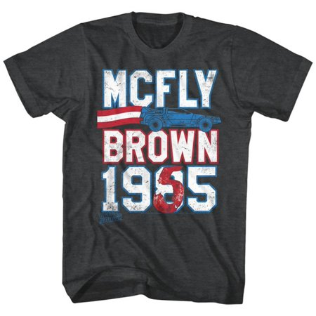 Back To The Future- Mcfly Brown Ticket Apparel T-Shirt - Black - Marty Mcfly Clothes