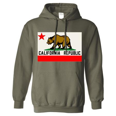 New CALIFORNIA REPUBLIC ORIGINAL BEAR FLAG HOODIE Sweatshirt OG State Pullover
