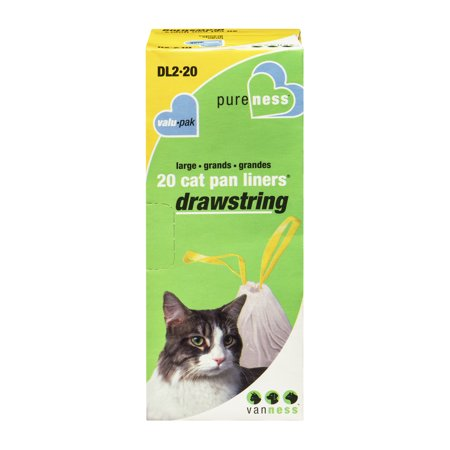 Van Ness, Cat Litter Box Liners With Drawstring, Large, 20 count
