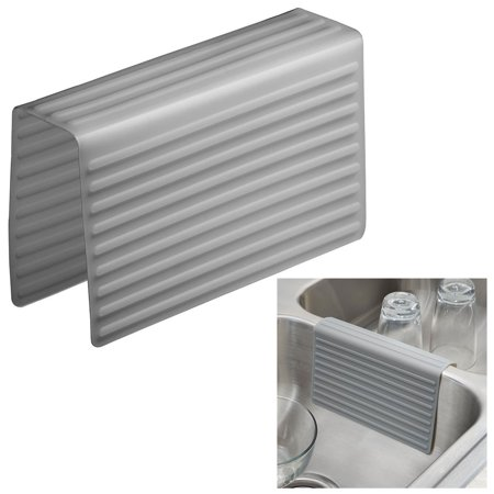 Kitchen Sink Saddle Double Sink Protector Cover, Gray