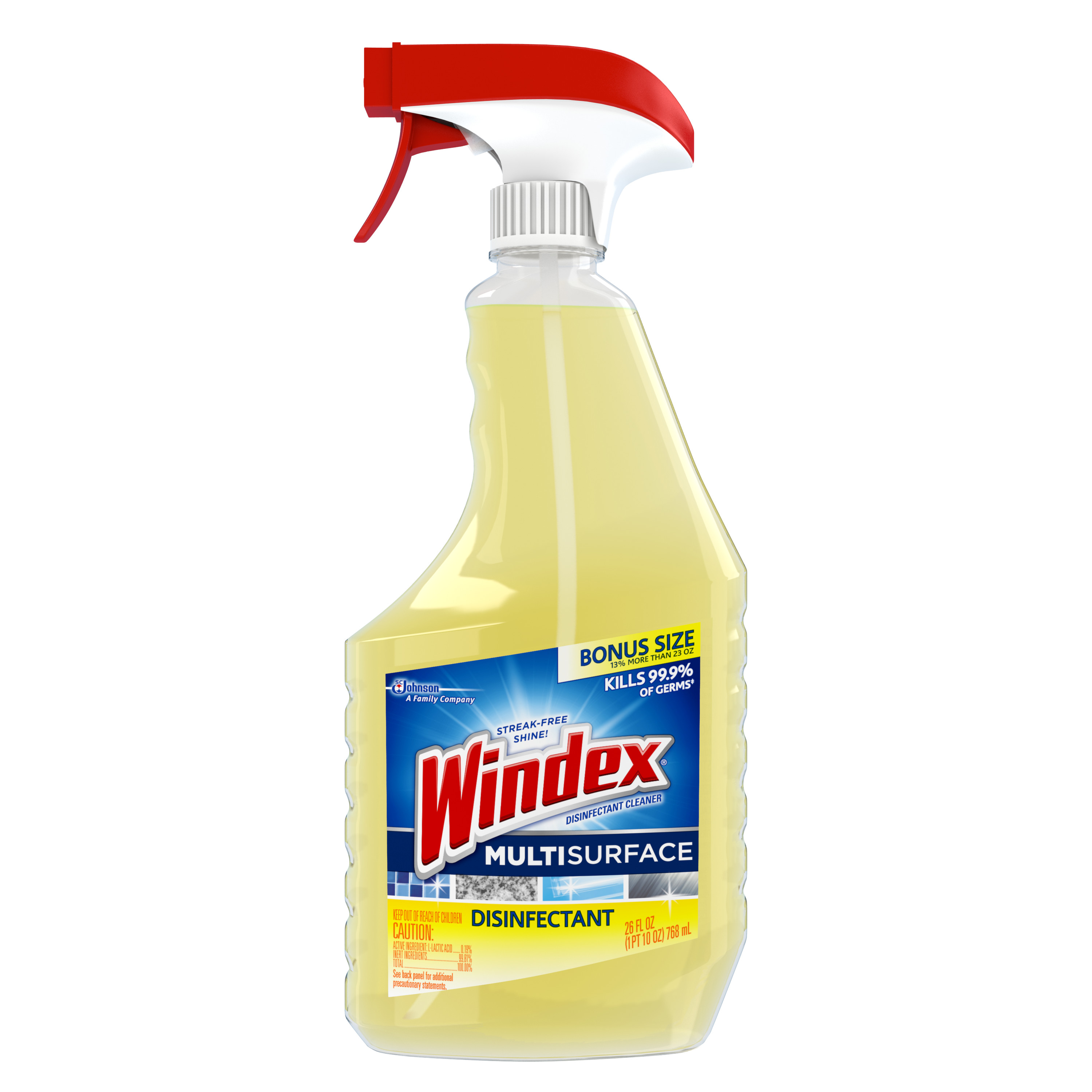 Windex Disinfectant Cleaner Multi-Surface Trigger 26 Fluid Ounces