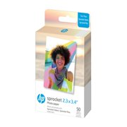 "HP Sprocket 2.3 x 3.4"" Premium Zink Sticky Back Photo Paper (50 Sheets) Compatible with HP Sprocket Select and Plus Printers."
