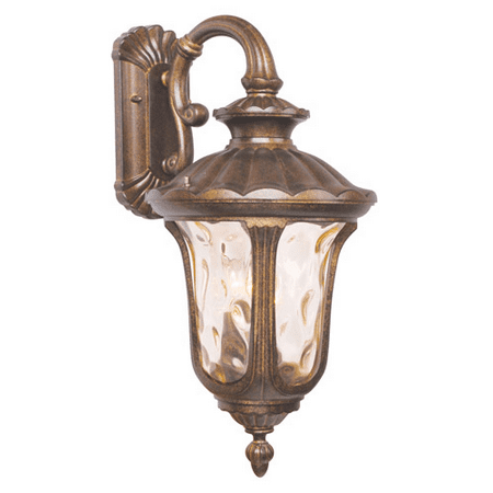 Wall Sconces 3 Light With Hand Blown Light Amber Water Glass Moroccan Gold size 22 in 180 Watts - World of Crystal