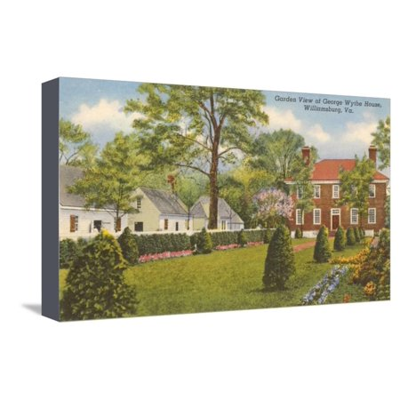 George Wythe House, Williamsburg, Virginia Stretched Canvas Print Wall Art (Wythe House)