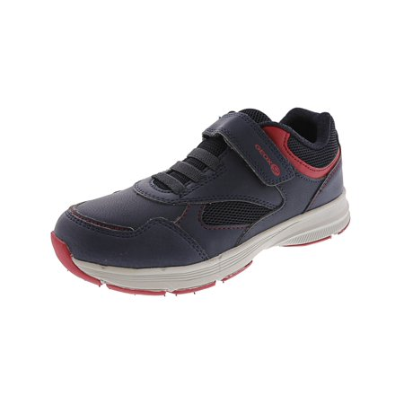 Geox Hoshiko Navy / Red Ankle-High Mesh Fashion Sneaker - 3M - Geox Toddler Shoes