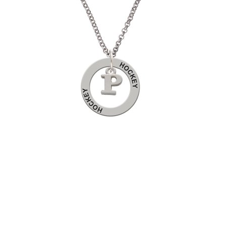 Small Greek Letter Rho Lucky Dog Affirmation Ring Necklace