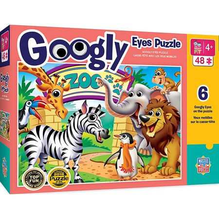 MasterPieces Kids Googly Eyes Specialty - Zoo Animals 48 Piece Puzzle - Kids Specialty Stores