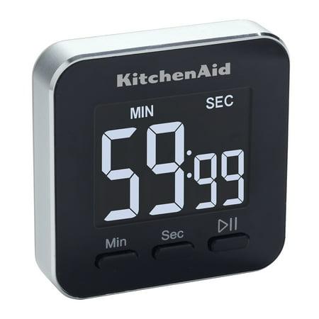 KitchenAid Single Event Timer, 2.5 inches, Black Kitchenaid Digital Timer
