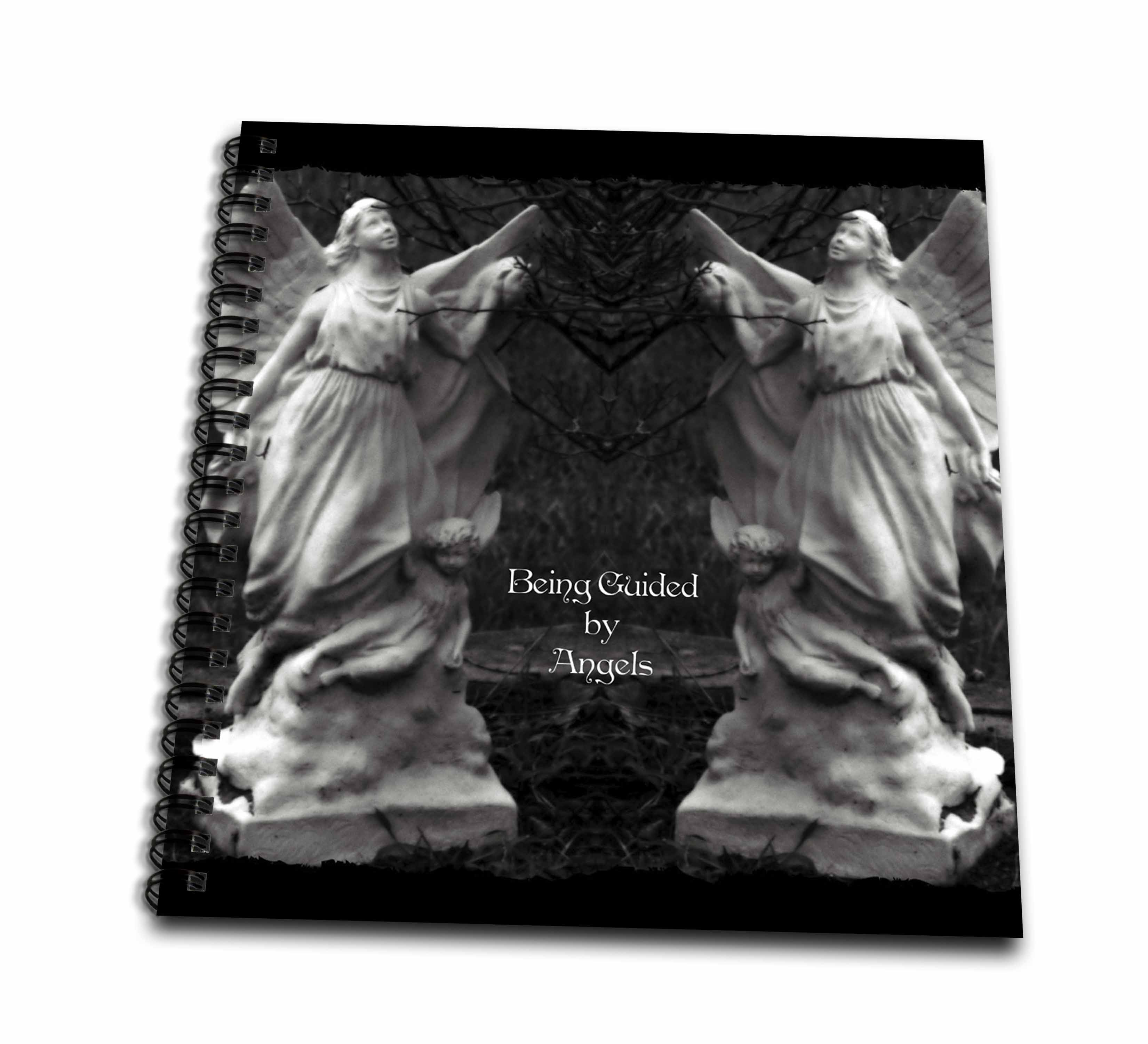 3dRose Two protecting angels standing side by side - Drawing Book, 8 by 8-inch