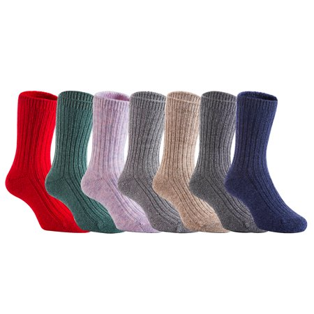 Lian LifeStyle 3 Pairs Children Wool Socks Size 5Y-8Y Random Boy Color