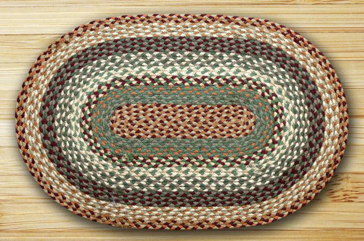Earth Rugs C-413 Buttermilk   Cranberry Oval Braided Rug 3 Feet x 5 Feet by Earth Rugs