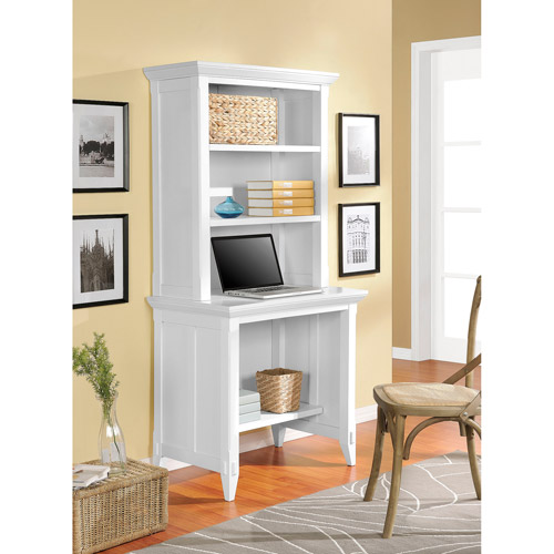 Altra Amelia Desk With Hutch Bookcase White Walmart Com