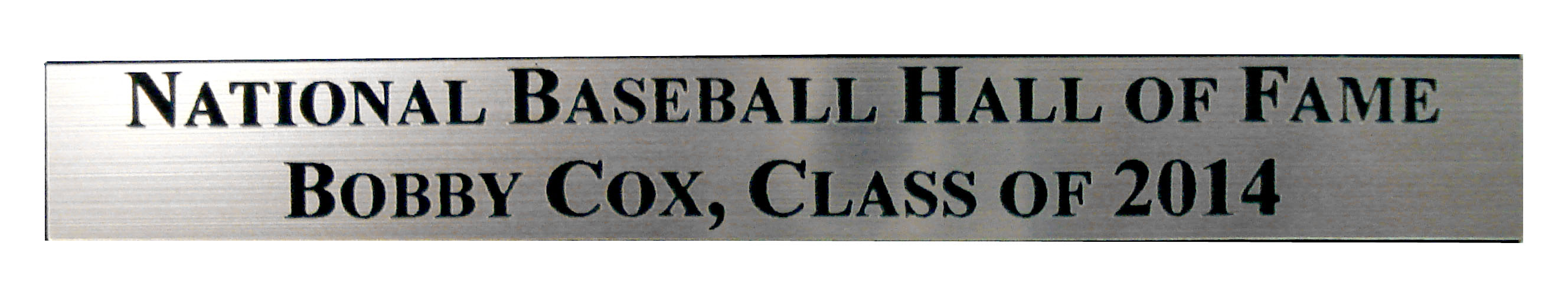 Hall of Fame Engraved Nameplate Bobby Cox by STEINER SPORTS MEMORABILIA