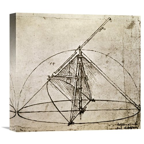 Global Gallery 'Measuring Instruments' by Leonardo Da Vinci Graphic Art on Wrapped Canvas by Global Gallery