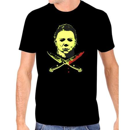 Halloween 2 Men's Michael Myers Glow in The Dark T-Shirt](Michael Myers T Shirt Halloween)