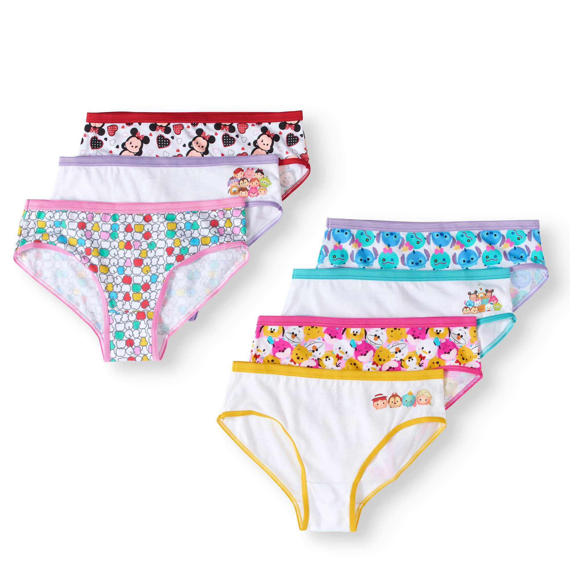Tsum Tsum Girls' Underwear, 7-Pack