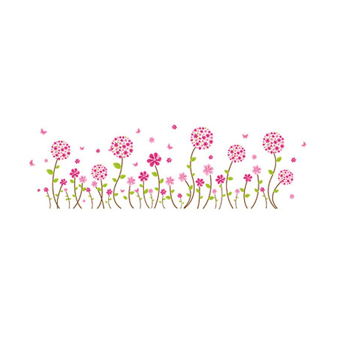 Pink Purple Dandelion Flower Wall Sticker Mural Room Decor - image 4 of 4