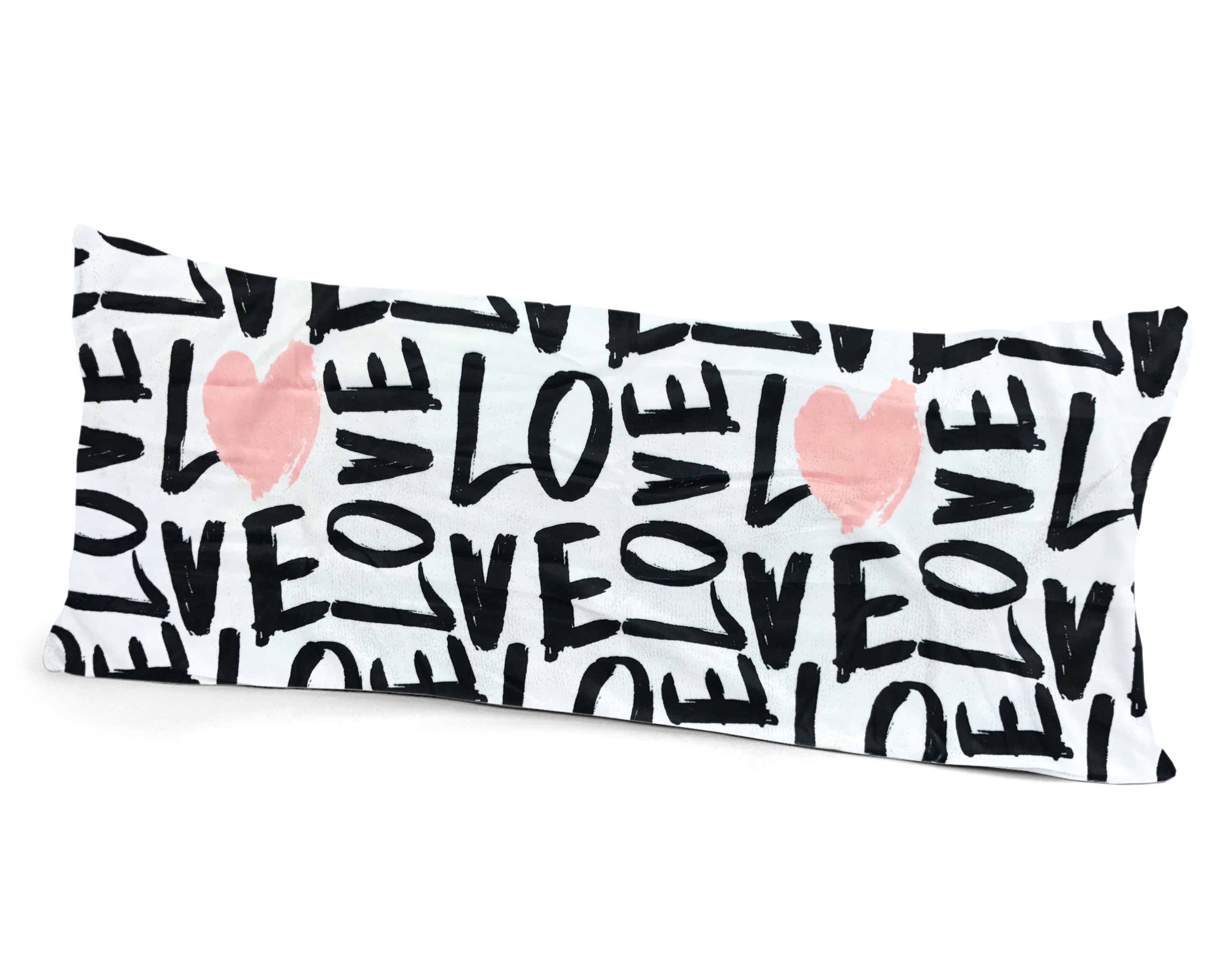 Your Zone Graphic Love Body Pillow Cover by Idea Nuova