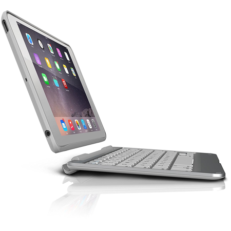 ZAGG Slim Book Tablet Keyboard & Case Bluetooth iPad Mini / 2 / 3 Silver ()