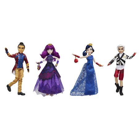 disney descendants isle of the lost 4 pack mal evie carlos jay. Black Bedroom Furniture Sets. Home Design Ideas