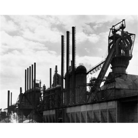 Superstock SAL25536561 Smoke Stacks At A Steel Mill Poster Print, 18 x 24 - image 1 of 1