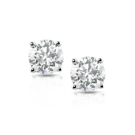 - G/SI 1 ct Diamond Studs Platinum