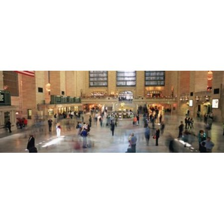 Passengers At A Railroad Station Grand Central Station Manhattan NYC New York City New York State USA Canvas Art - Panoramic Images (36 x