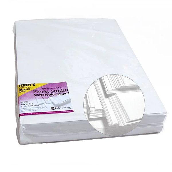 Cold Press 110 Sheet BONUS Pack Richeson Studio Watercolor Paper Packs 135 lb