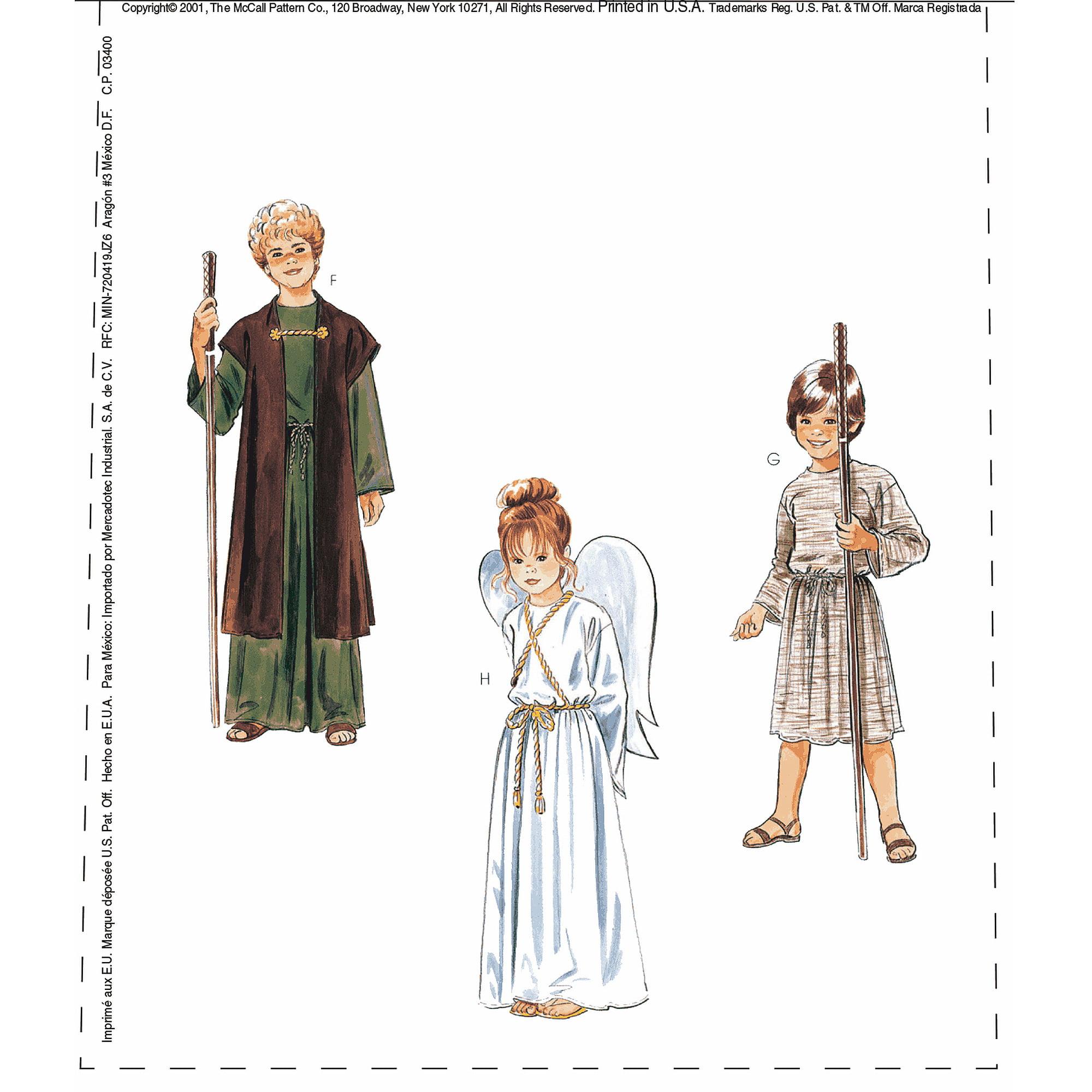 McCall's Christmas Costumes, (XS)