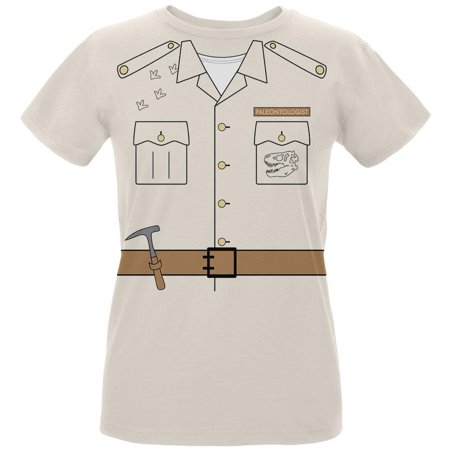 Halloween Paleontologist Dinosaur Hunter Costume Womens Organic T Shirt
