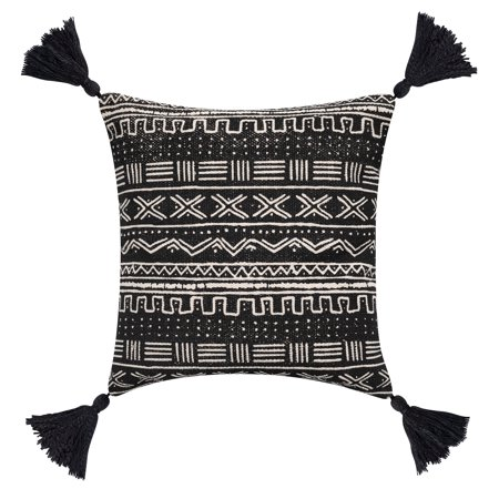 Better Homes & Gardens Down Alternative Filled Global Stripe & Tassels Decorative Throw Pillow, 18