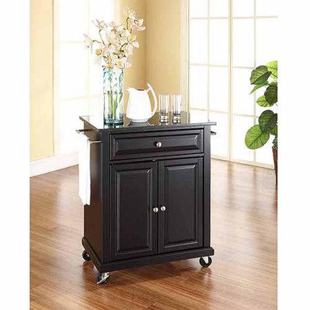 Crosley Furniture Solid Black Granite Top Portable Kitchen Cart ()