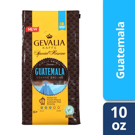 Gevalia Special Reserve Guatemala Coarse Ground Coffee, Caffeinated, 10 oz Bag