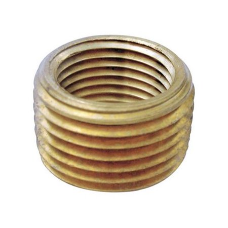 0.37 MPT x 0.25 in. FPT Pipe Face Bushing in Lead Free Yellow Brass - pack of 5