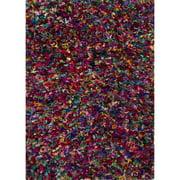 3.75' x 5.83' Bright Confetti Multi-Colored Rockon Shaggy Area Throw Rug