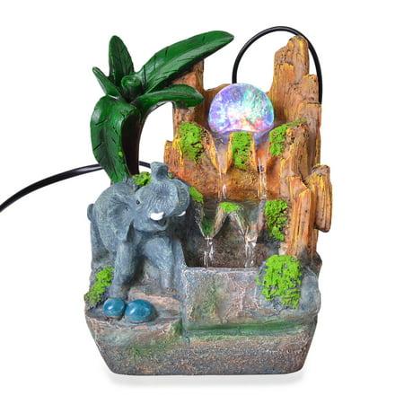 Shop LC Multi Color Glass LED Light Elephant