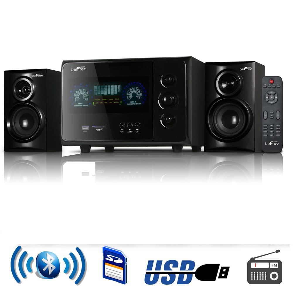 beFree Sound BFS-45L 2.1 Channel Bluetooth Surround Sound Speaker System in Black